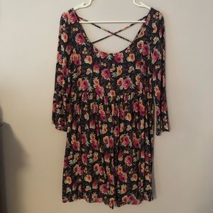 American Eagle Floral Babydoll Dress